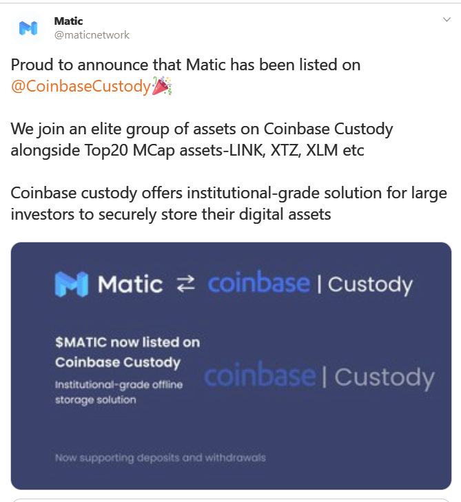 MATIC Matic Network coin