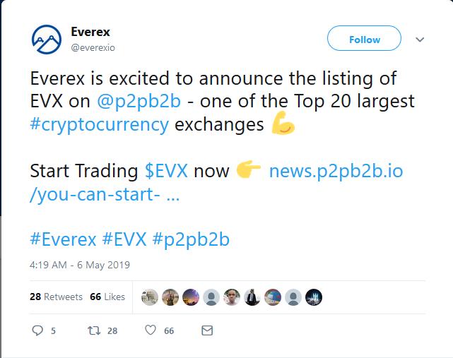 EVX Everex coin